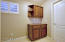 Custom cabinetry installed in hallway