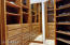 Master closet includes top of the line custom cabinetry with tons of storage