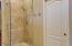 Beautiful custom stone shower