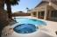 Sparkling Heated Pool and Spa with Water Feature