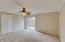 Large master bedroom with crown molding, extra closets and outside patio/garden area for your private peaceful sanctuary