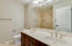 2nd bath with dual sinks to accommodate guests and family