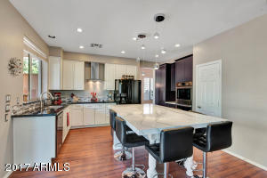 Stunning remodel in kitchen with Cambria on the island~ like a piece of ART!