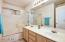 Master bath features dual sinks