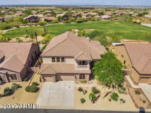Great home backs to the 4th hole, Las Sendas Golf Community. Home has been very well cared for! Central Vac, Full house water system, 3 fireplaces, 30 ft master. This home has HUGE closets, wide hallways, additional balcony bedroom. Renovated.