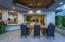 Outdoor dining, ceiling heaters, pocket doors,