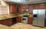 Stainless steel appliances and sink