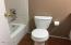 new commode, hall bath