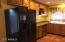 side-by-side refrigerator with ice maker & dispenser
