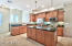 Maple-color cabinetry