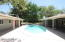 Pool (7+ ft diving) - Showing both Covered Patio's and East Side of Yard