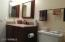 Updated vanity with granite counter top; updated toilet.