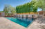 Heated, Pebbletec Diving Pool and Spa with Fountains