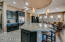 Contemporary designed kitchen with oversized center island.