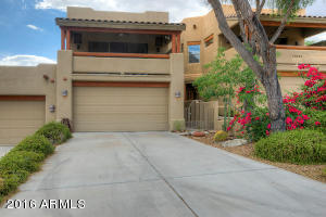 Front of Southwest Style Condo with 2 Car Garage