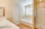 Master bath separate tub & shower dual sinks sep toilet rm