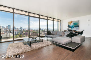 View of city from your living room