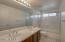 Hall bath has dual sinks--great for teens