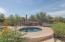 Backyard with hot tub