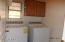 Laundry room upstairs washer & dryer stay