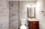 New tile shower in master bathroom