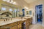 Spacious master bathroom with large walk-in closet!