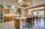 Luxurious well-lit kitchen.
