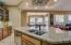 Elegant granite countertops.