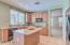 Kitchen Island with Cabinet Storage!