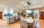 Recently renovated gourmet kitchen with lovely informal dining