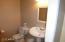 Powder room downstairs