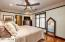 The master bedroom provides for a comfortable retreat