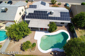 Producing fruit trees-play pool & solar panels!