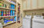 laundry room doubles as a pantry