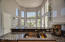 dramatic and contemporary kitchen, white light and bright