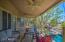 veranda with ceiling fan fabulous entertaining space & calming & serene water views