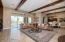 Leads to dining room and gourmet kitchen.