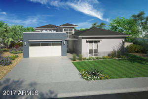 Rendering of street view of home
