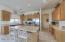 Kitchen island & Stainless appliances