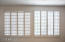 Master Suite windows and plantation shutters