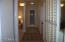 Door to bedrooms cans shut off from rest of home.