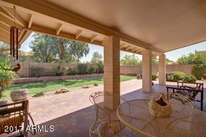 Relax on your oversized, covered patio