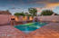Pool with water features, cantera decking
