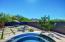 Highly upgraded custom backyard with mountain views.