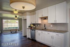 Beautiful lighting and custom pine plank ceilings.