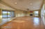 Large living room and area to accommodate a formal dining room.