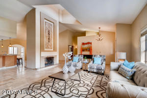 Great Room and 2-Way Fireplace