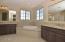 Spa-like Master Bath with dual sinks & makeup area