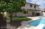 Large backyard with artificial turf!