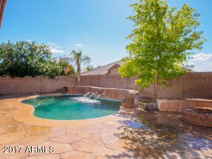Oasis pool, fire pit on extended patio
